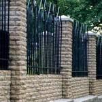 колонны и нижняя часть из облицовочного кирпича